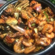 香辣虾 蟹火锅的做法