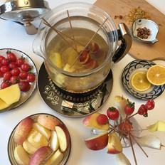 水果花茶火锅的做法