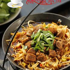 牛肉千张芽菜火锅的做法