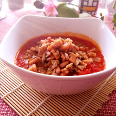 午餐肉番茄肉末羹的家常做法