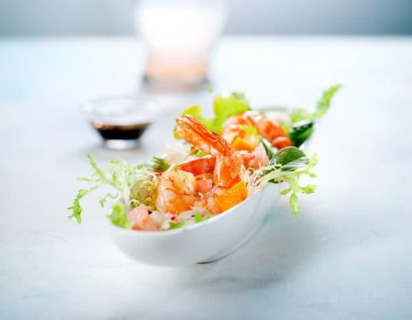 酱油烧虾伴金柚芒果沙律怎幺做?酱油烧虾伴金柚芒果沙律的做法