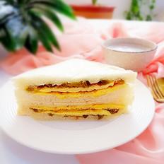 早餐面包夹的家常做法