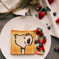 卡通吐司早餐的家常做法