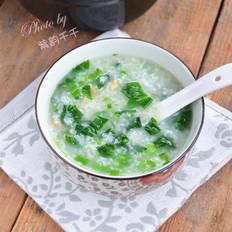 海米菜心粥的家常做法