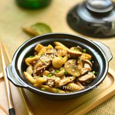 孜然菌菇煲的家常做法