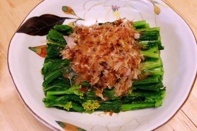 柴鱼片拌油菜花怎么做好吃?柴鱼片拌油菜花的家常做法