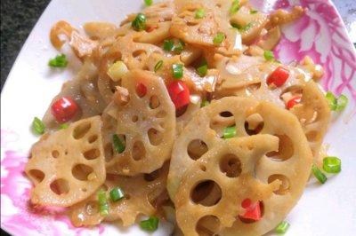 炒藕片怎么做好吃?炒藕片的家常做法