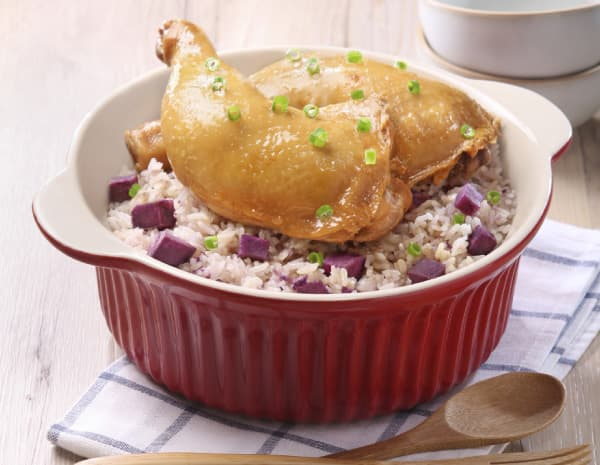 饭煲焗鸡髀紫薯饭怎幺做?饭煲焗鸡髀紫薯饭的做法