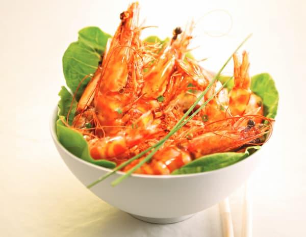 豉油皇中虾怎幺做?豉油皇中虾的做法
