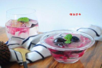 黑加仑冰粉怎么做好吃?黑加仑冰粉的家常做法