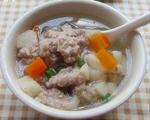 马蹄肉球汤的做法_马蹄肉球汤怎么做好吃图解