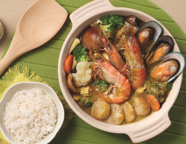 青咖哩海鲜煲怎幺做?青咖哩海鲜煲的做法
