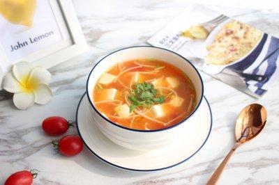 茄汁金针菇豆腐汤怎么做好吃?茄汁金针菇豆腐汤的家常做法