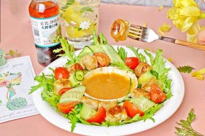 低卡煎馄饨蔬菜沙拉怎么做好吃?低卡煎馄饨蔬菜沙拉的家常做法