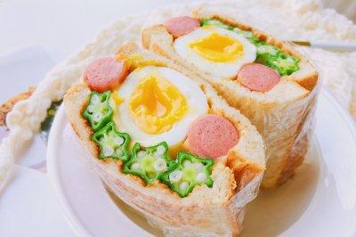 全蛋秋葵三明治怎么做好吃?全蛋秋葵三明治的家常做法