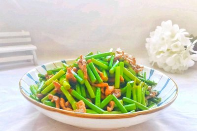 蒜苔炒肉怎么做好吃?蒜苔炒肉的家常做法