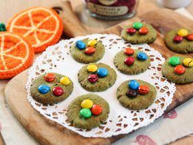 绿茶M&M朱古力豆饼乾的做法