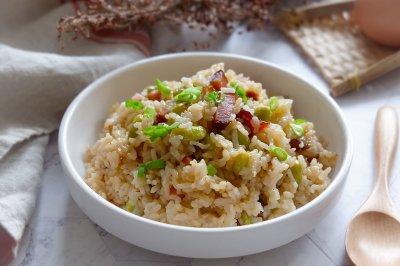 腊肉毛豆糙米饭怎么做好吃?腊肉毛豆糙米饭的家常做法