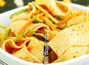 四种凉拌豆腐皮的做法