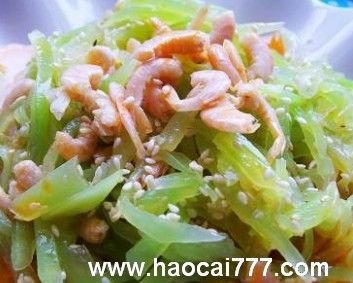 凉拌莴苣加点海米鲜美又爽口
