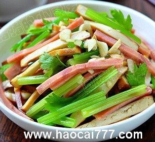 火腿凉拌芹菜的做法,怎么做好吃