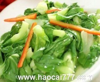 凉拌小白菜的五种做法
