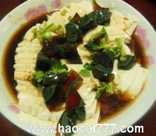皮蛋豆腐怎么做好吃