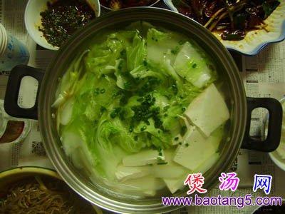 白菜豆腐汤,白菜豆腐汤的做法,豆腐汤怎么做