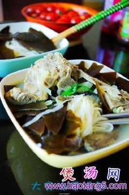 大骨海带汤面的做法,怎么做大骨海带汤面
