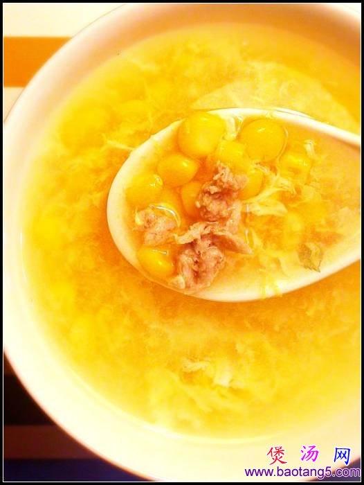 好喝的家常汤类,玉米蛋花汤
