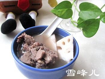 莲藕黑豆排骨汤的做法图解