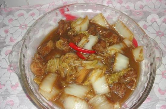 红烧肉炖大白菜的做法_红烧肉炖大白菜怎么做
