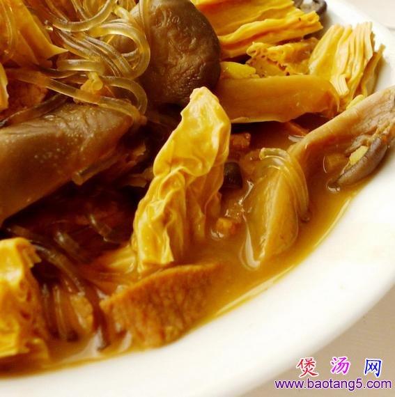 蘑菇腐竹炖粉条的做法_蘑菇腐竹炖粉条怎么做