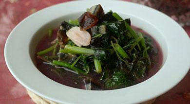 皮蛋苋菜汤的做法_皮蛋苋菜汤怎么做
