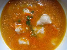 南瓜面疙瘩汤的做法_南瓜面疙瘩汤怎么做