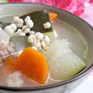 冬瓜薏仁排骨汤的做法_冬瓜薏仁排骨汤怎么做