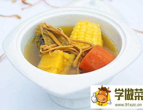 虫草花粉葛玉米汤的做法_虫草花粉葛玉米汤怎么做