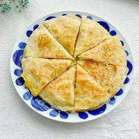 5分钟快手早餐,鸡蛋火腿手抓饼的做法图解8