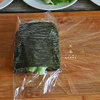 #我为奥运出食力# 折叠紫菜包饭,10分钟就能搞定的简单早餐的做法图解9