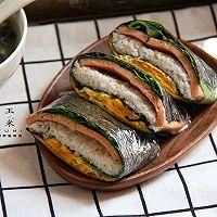 #我为奥运出食力# 折叠紫菜包饭,10分钟就能搞定的简单早餐的做法图解11
