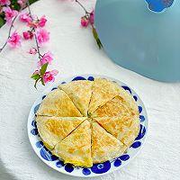 5分钟快手早餐,鸡蛋火腿手抓饼的做法图解10