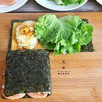 #我为奥运出食力# 折叠紫菜包饭,10分钟就能搞定的简单早餐的做法图解8