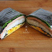 #我为奥运出食力# 折叠紫菜包饭,10分钟就能搞定的简单早餐的做法图解10
