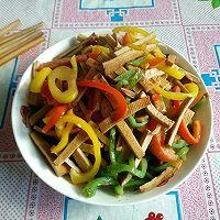 彩椒炒豆干怎么做好吃?彩椒炒豆干的家常做法