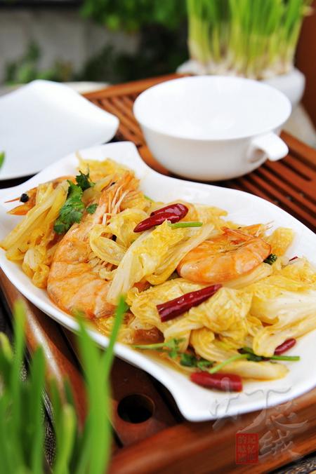 (图)白菜炒虾的家常做法