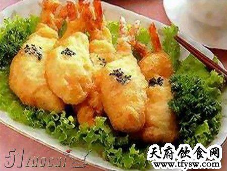 炒凤尾虾排的家常做法