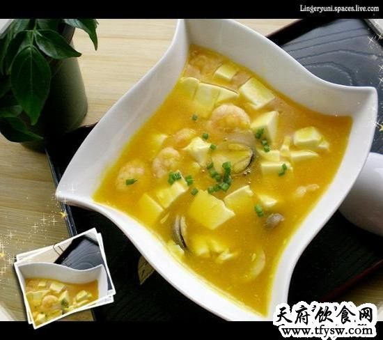 海鲜豆腐羹的家常做法