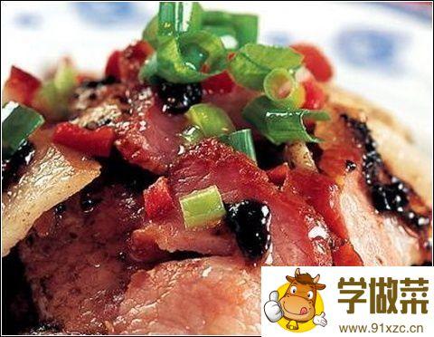 豉椒蒸腊肉的家常做法