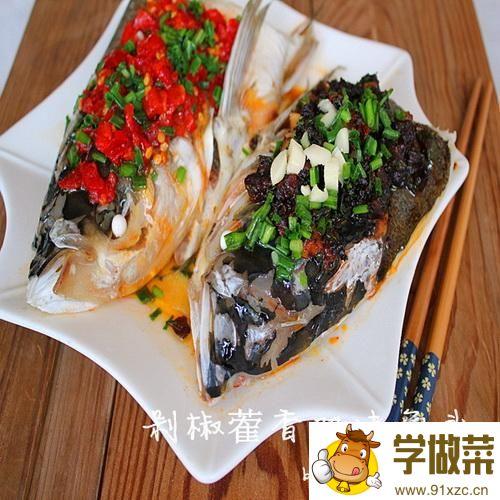 垛椒蒮香双味鱼头的家常做法