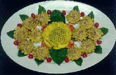 葵花虾饼的家常做法